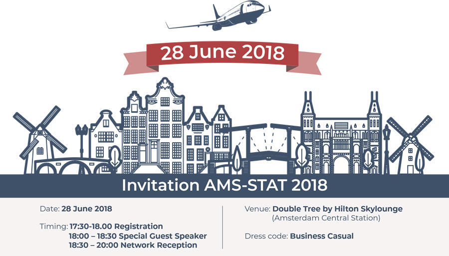 TrueNoord are proud to be sponsoring the first ever AMS-STAT event in Amsterdam on the 28th of June