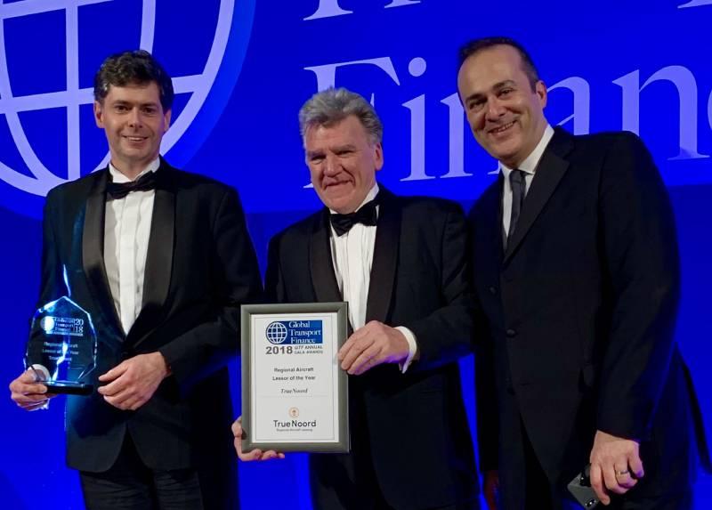 TrueNoord announced as winner of the Global Transport Finance Regional Aircraft Lessor of the Year Award 2018